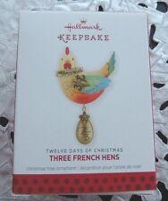 HALLMARK 2013 TWELVE DAYS OF CHRISTMAS THREE FRENCH HENS ORNAMENT ... NEW IN BOX