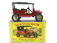 Matchbox Yesteryear Y1-2 1911 Ford Model 'T' In 'D3' Box (RARE TWIN HANDBRAKE)