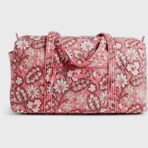 VERA BRADLEY~Iconic Large Travel Duffel Bag~BLUSH PINK~RARE~$85.00~NWT!