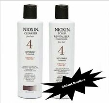 Nioxin System 4 Cleanser Shampoo and Scalp Revitaliser Conditioner 300ml Duo