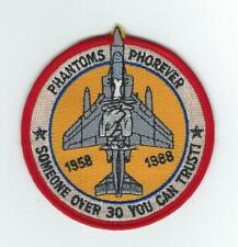"""F-4 PHANTOM II 1958-88 """"SOMEONE OVER 30 YOU CAN TRUST""""(Red) patch"""