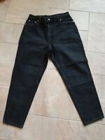 Vtg 90's Levi's 550 Womens Black Jeans  Mom Relaxed Fit Tapered 16 S USA 32 x 29