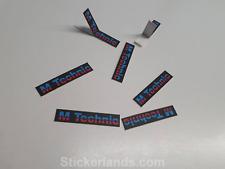 BMW E30 M-Tech  M Technik 1 2 Body Kit Sticker Decal Original  x8 E34 E28 BLACK