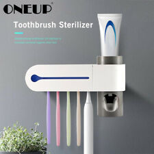 Automatic UV Sterilizer Toothbrush Holder Toothpaste Dispenser Squeezer