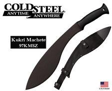 """Cold Steel 13"""" Fixed Blade Knife Kukri Machete 1055 Carbon Steel Sheath 97KMSZ"""