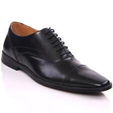 Kobbler UK 11 (EU 45) QUAI en cuir noir élégant Formel Travail Lacets Robe Chaussures