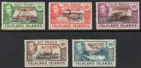 Falkland Islands 1944 South Shetlands Dependency 1/- & 4 others MINT Stamps MH