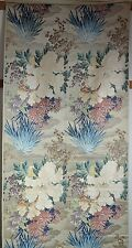 Spectacular Antique Chinese Silk And Metallic Heavy Brocade Panel Rr596