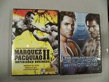 Manny Pacquiao DVD lot of 2 - The Dream Match VS De La Hoya & Marquez Pacquiao 2