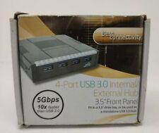 "USB 3.0 SuperSpeed 4Port Internal/External Hub 3.5"" Front Panel"
