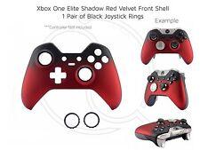 XBOX ONE Elite en velours Rouge Noir Souple Noir Anneaux contrôleur Front Shell unique