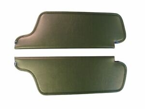 1969 PLYMOUTH BARRACUDA SUN VISORS, COACHMAN PATTERN, DARK GREEN COLOR, PAIR