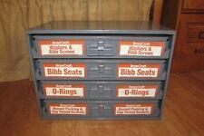 Brasscraft Metal Storage Parts 4 Drawer Cabinet Full Of Parts 3080