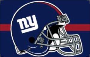 """Brand New NFL New York Giants Blue Helmet Logo Flag 3"""" x 5"""""""