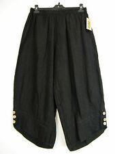 LAGENLOOK100% LINEN CROPPED TROUSERS IN 6 COLS SIZES :Plus:1(L) Plus 2(XL)