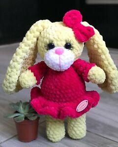 Bunny Crochet Toy Handmade Animal Polyester