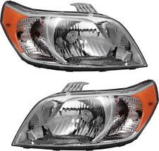 New Head Light For 2010 2011 Chevrolet Aveo 5 Driver & Passener Side Set of 2