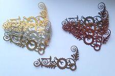 New - Steampunk Gear Corner Die Cuts - Gold/Copper Mix