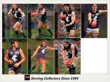 1996 Select AFL Classic Metal Trading Card Silver Base Team Set: Carlton (7)