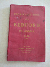 Original Bedford van CA models 10-12 cwt owners manual