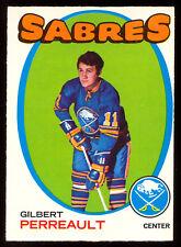 1971 72 OPC O PEE CHEE #60 GILBERT PERREAULT EX-NM BUFFALO SABERS HOCKEY CARD