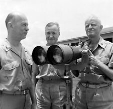 WWII Photo US Admiral Chester Nimitz  WW2 B&W World War Two D-Day / 1349