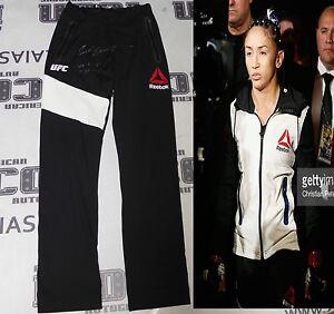 Carla Esparza Signed UFC 197 Fight Worn Used Walkout Pants PSA/DNA Auto'd v Lima