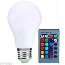 E27 3w 300lm RC Bombilla Led 16 COLORES CAMBIO regulable RGB Lámpara 85-265v