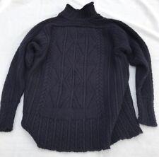 Inis Meain for Louis, Boston Men's Irish Fisherman's Sweater Alpaca Dark Navy L