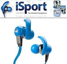 Monster iSport Athletes In-Ear Headphones with ControlTalk, Blue