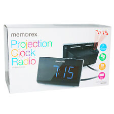 Memorex PROJECTION CLOCK RADIO • DUAL ALARM • 10 AM/FM Presets • BATTERY BACKUP