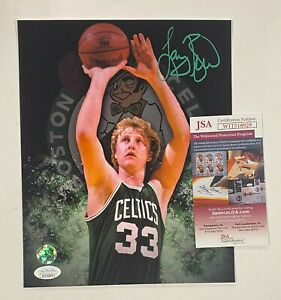Larry Bird Signed 8x10 Photo Autographed AUTO JSA WITNESSED COA Celtics HOF