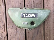 73 suzuki ts-125 left  side panel oil tank cover,