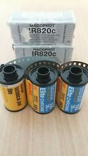 5x unusual expired films for lomography, infrared, kept FROZEN for over 10yrs