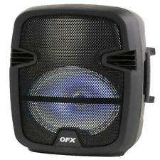 Portable Party Bluetooth PA Loudspeaker with Microphone & Remote 8 In LED Lights