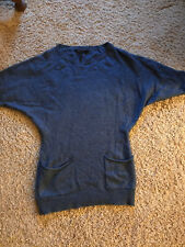 Womens Bcbg Tunic Sweater Blue Size Xs
