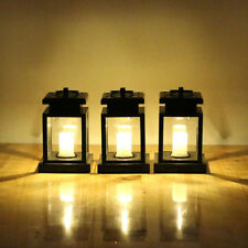 Outdoor Solor Lamp Powered Lantern Hanging Candle LED Light Garden Wall Carriage