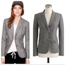 J. Crew Womens Gray Wool Blend Schoolboy Blazer Jacket 4
