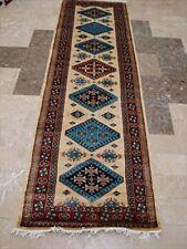 Excellent Kazak Shirvan Kuba Wool Carpet Hand Knotted Runner Rug (8.6 x 2.8)'