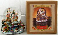 Musical Water Globe Grandeur Noel Merry Christmas Snow Collector's Edition