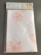 Crafts House Blank Card Set (with peach flowers)