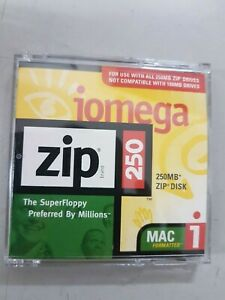Brand New 250 MB Iomega Zip Disk With Case. Mac formatted.