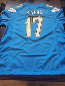 SD / Los Angeles Chargers Football Philip RIVERS #17  On Field Jersey MANY SIZES