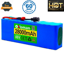 Lithium 48v 28ah Ebike Battery 1000w For Pack High Power + Charger Ion Electric