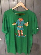 Orange Mountain Bikes Tee Shirt  Christmas Angry Elf