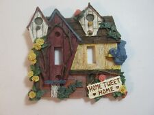 Decorative Light Switch Plate Home Tweet Home Bird Box 2 Switch