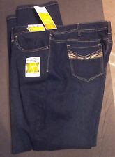 Womens-Plus-24W-Jeans-Medium-Bootcut-Lee-Dark-Wash-Natural-Fit-Adj-Waistband