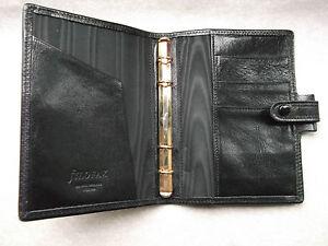 File Organiser Leather NEW FILOFAX KIDPOCKET SIZE BLACK DIARY 11mm Diameter