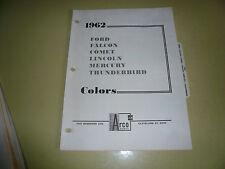 1962 Ford Arco Mobil Paints Color Chip Paint Sample Meteor Falcon T Bird Comet