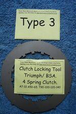 TRIUMPH BSA 3.4 Herramienta De Bloqueo Embrague Del Embrague. primavera, A7-10 A50-65, T90 etc. tipo 3.